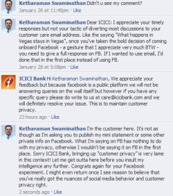 Sorry ICICI Bank, what happens in FB must stay in FB!