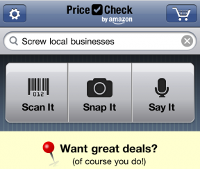 amazon pricecheck app 245931 How Can Organized Retailers Respond To Showrooming?